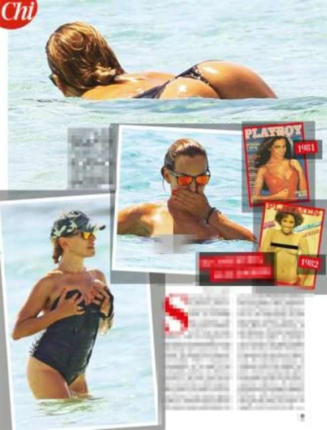 Barbara d'Urso hot, in topless a Formentera: sexy lato B in mare a 58 anni