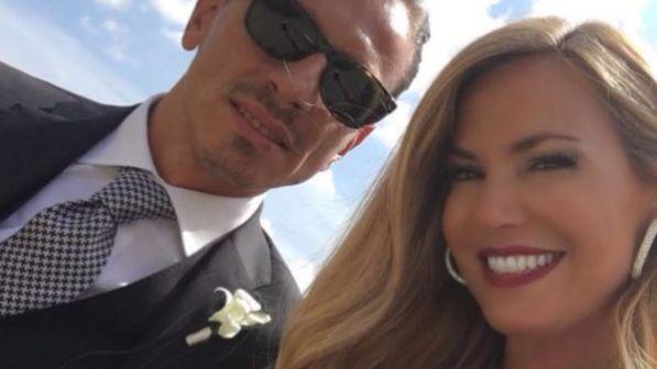 Federica Panicucci con Bacini alle nozze dell'amica
